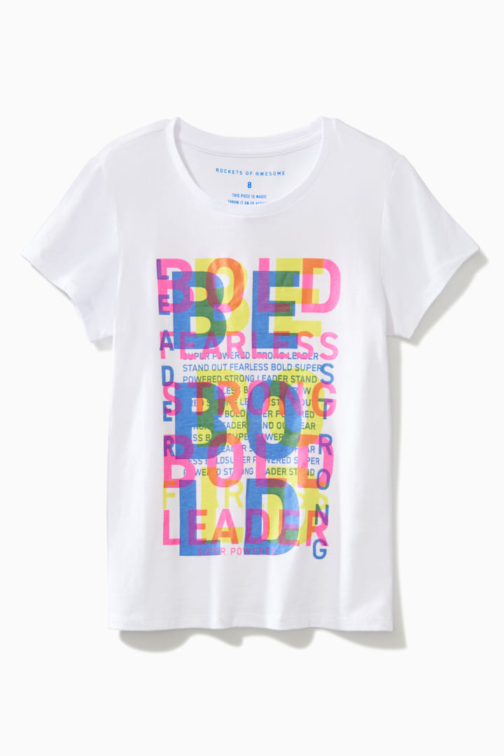 Overlapping Text Tee front
