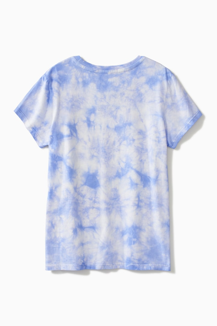 Tie Dye Awesome Smiley Tee back