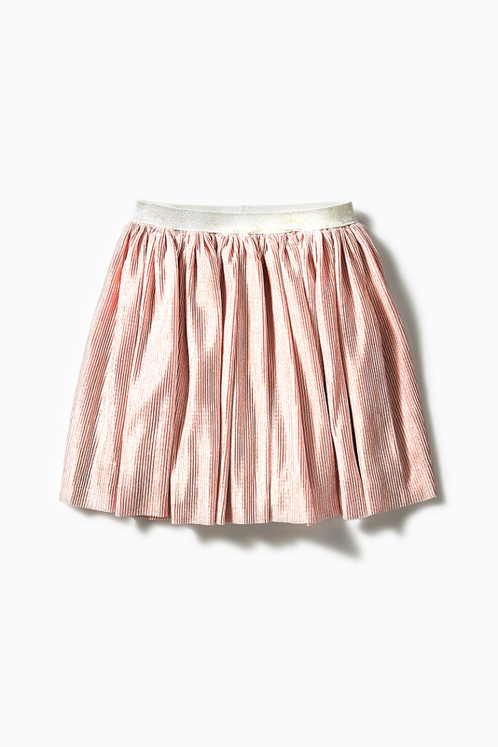 Crinkle Pleat Skirt front