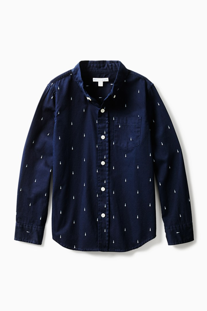 Tiny Rockets Button Down front