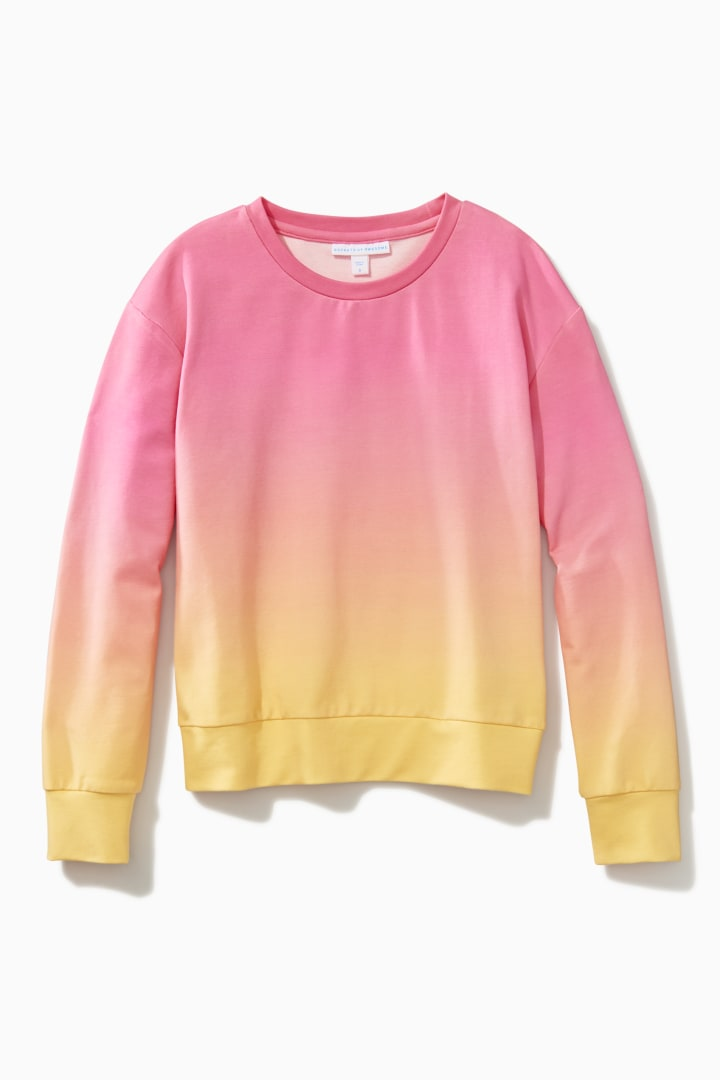 Ombre Sunset Crew front
