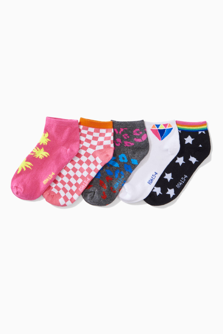 5-Pack Patterned Socks front
