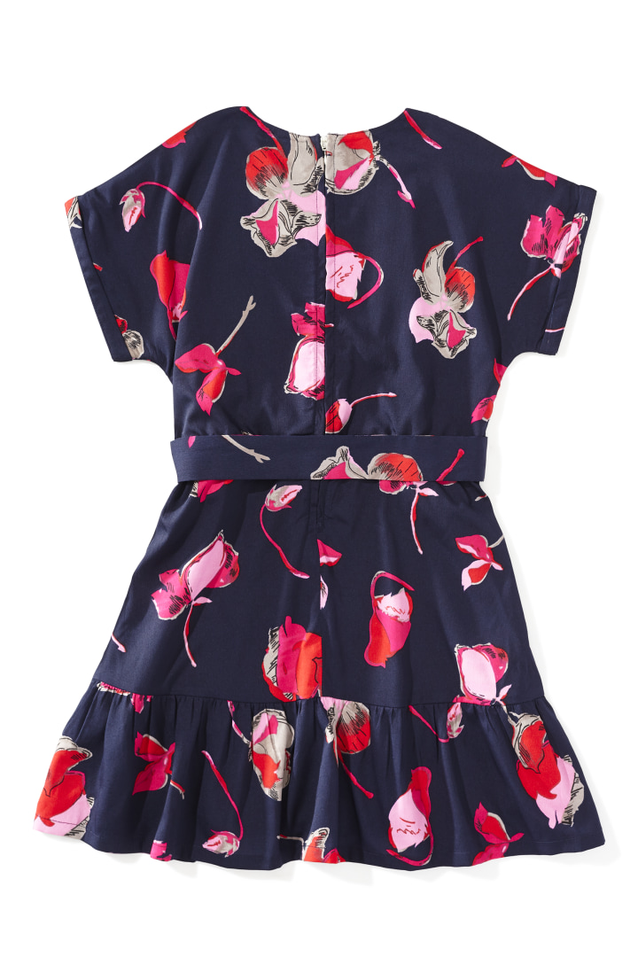 DVF X Rockets Of Awesome Floral Faux Wrap Dress back