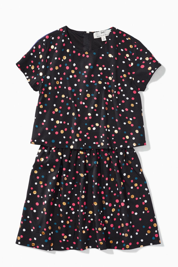 DVF X Rockets Of Awesome Funfetti Double Layer Dress front