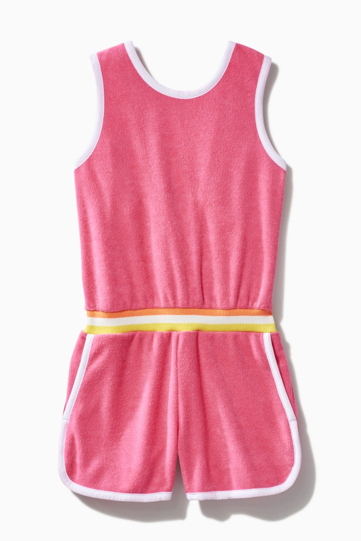 Towel Terry Track Romper front