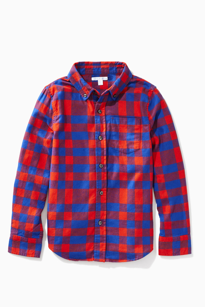 Uneven Plaid Shirt Main Image