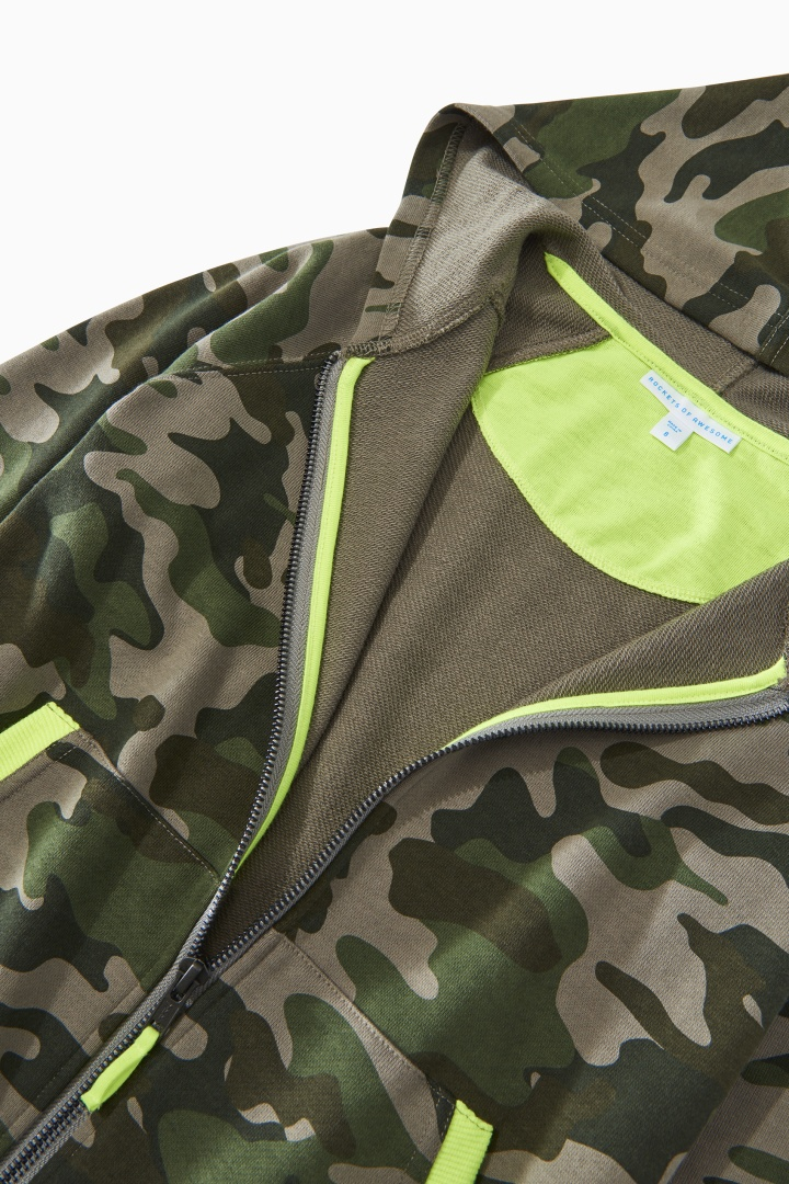 Camo Full-Zip Sweatshirt detail