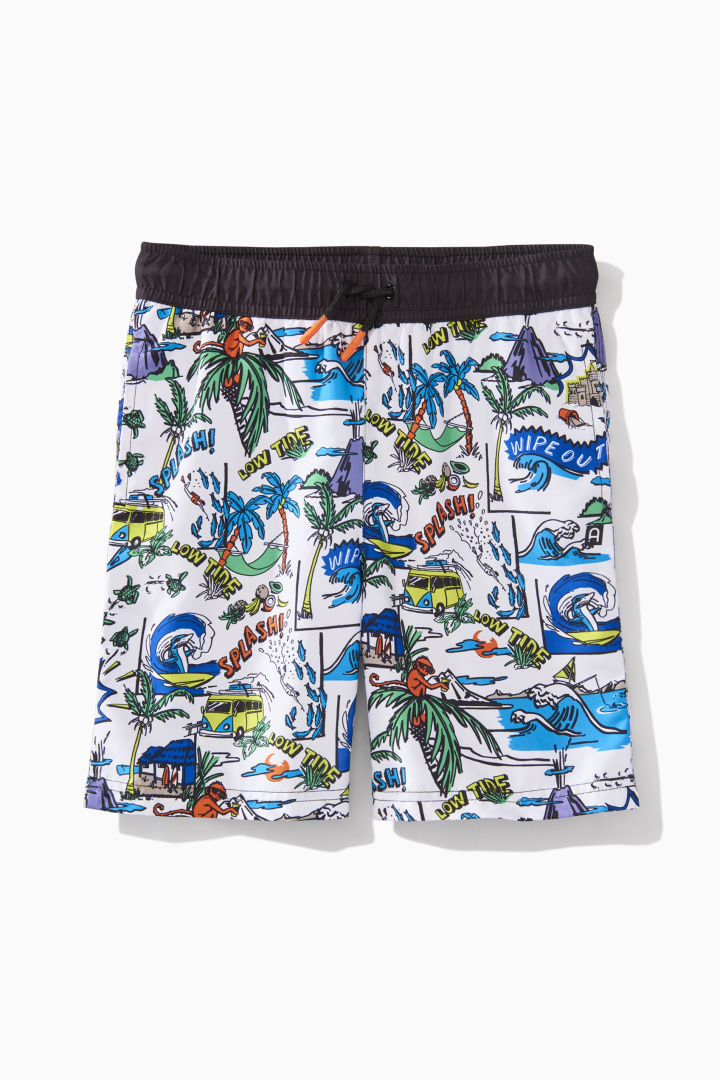 Comic Strip Swim Trunk front
