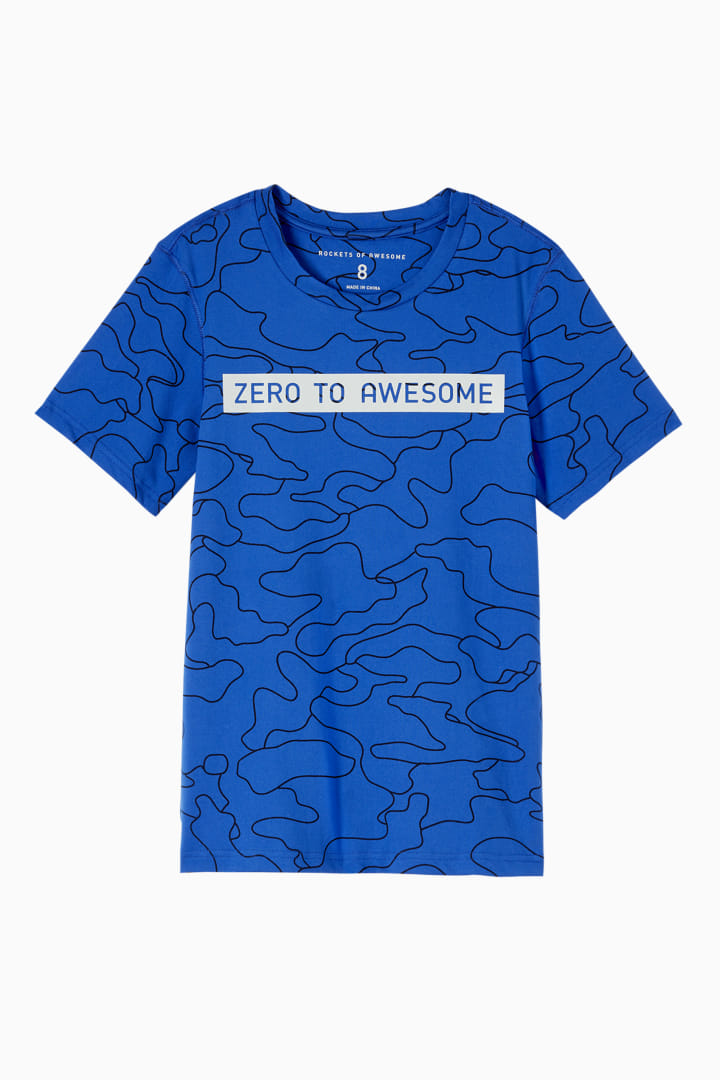 Linear Camo Zero To Awesome Active Tee front