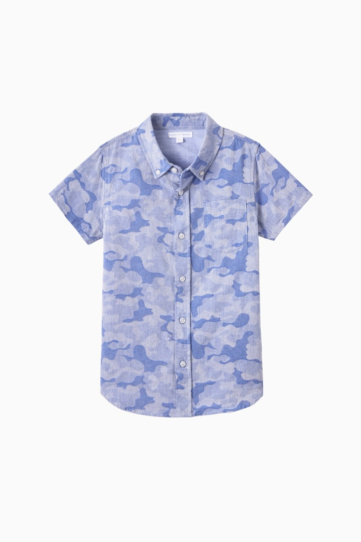Faded Camo Button Down front