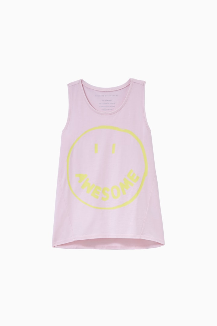 Awesome Smiley Swing Tank front