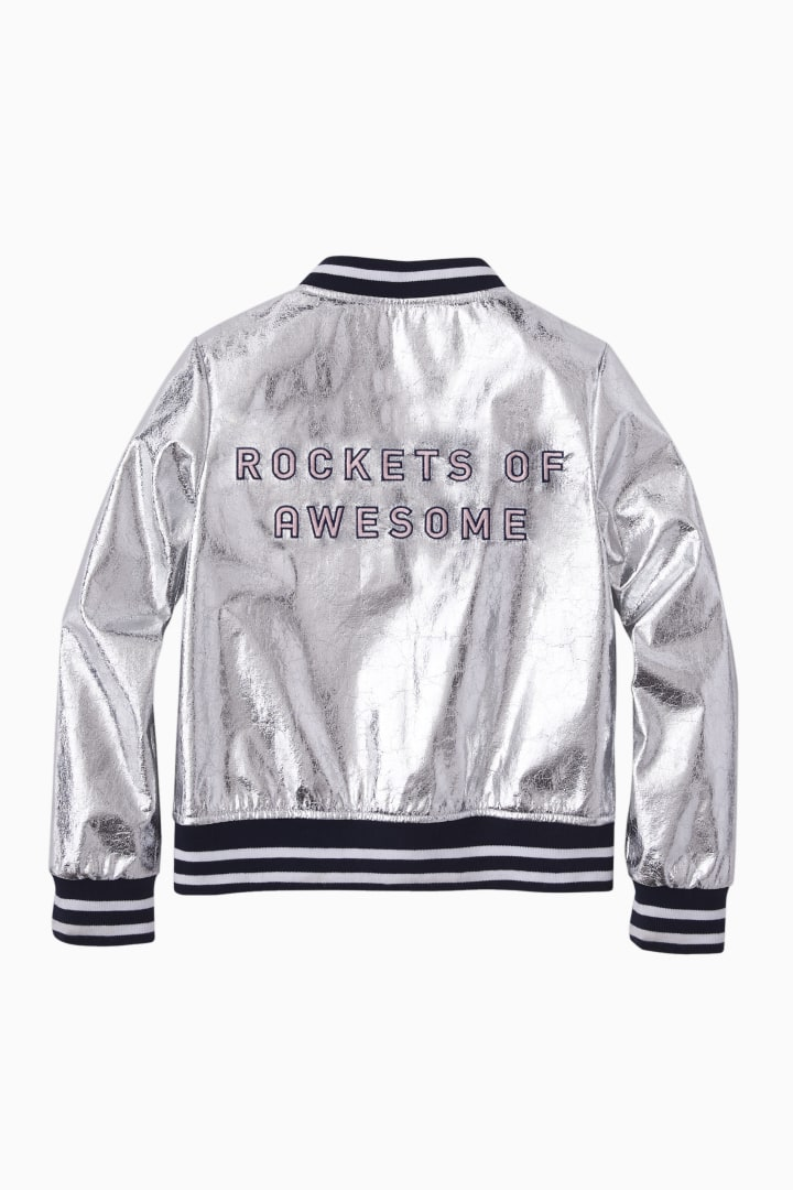 Crinkle Silver Bomber front