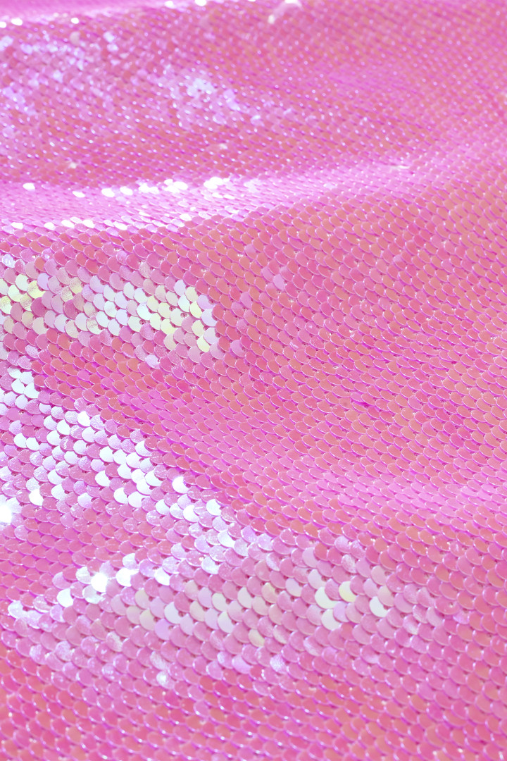 Party Pink Sequin Dress detail