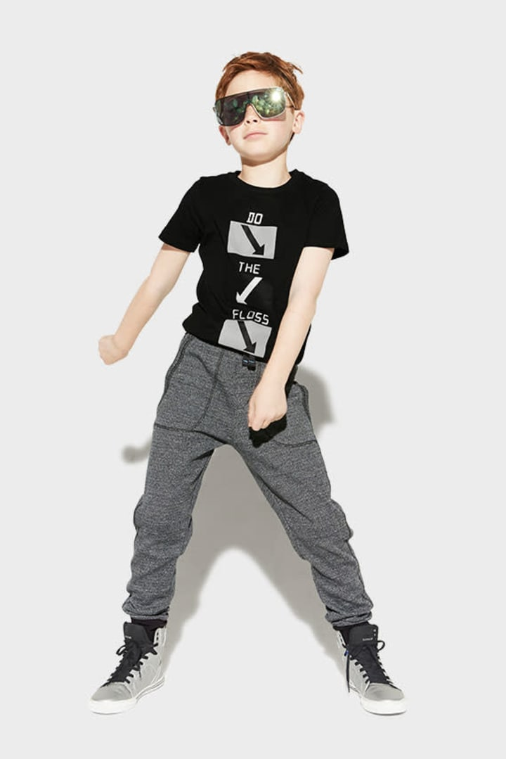 Textured Jogger on model
