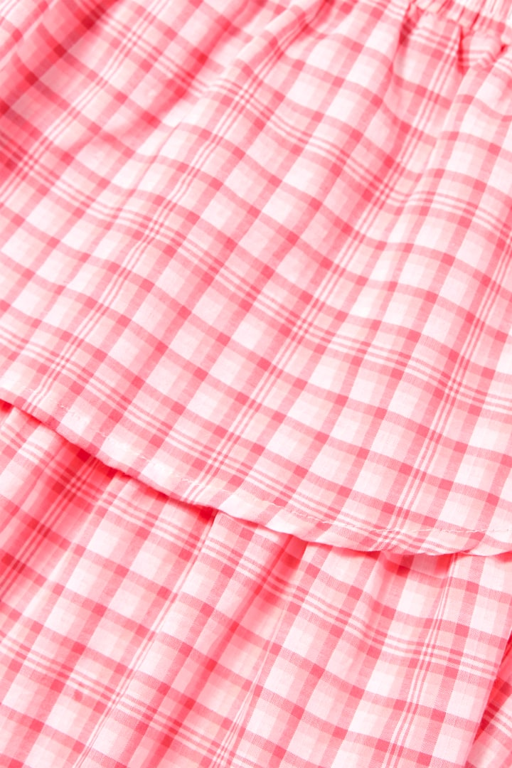 Neon Gingham Petal Skirt detail