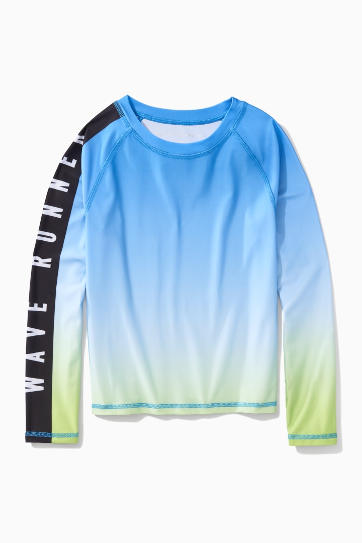 Ombre Wave Runner Rash Guard front