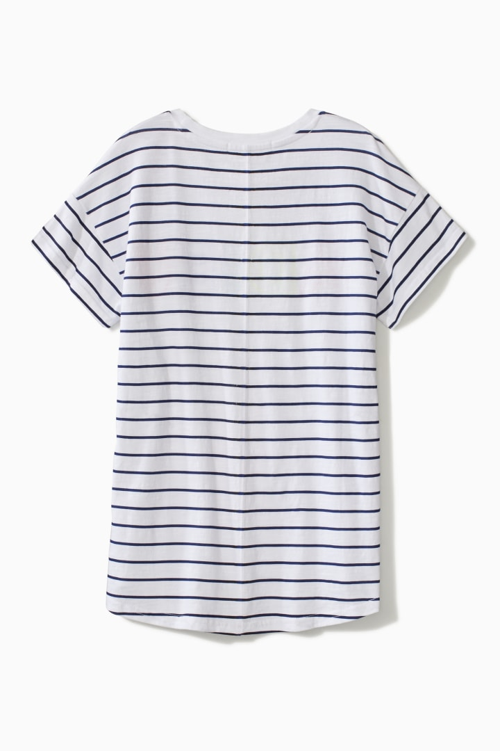 Adieu Stripe Tee back