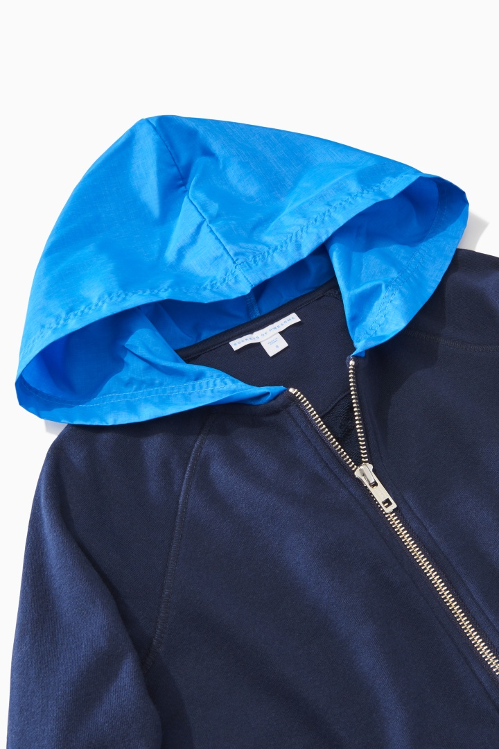 Contrast Hood Full-Zip Sweatshirt detail