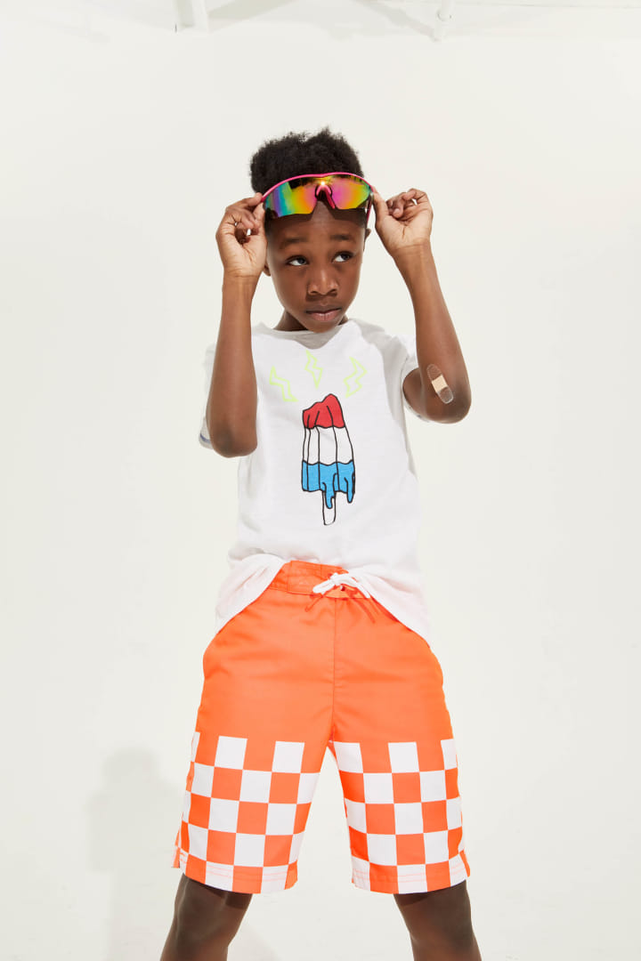 Powered By Popsicles Tee on model