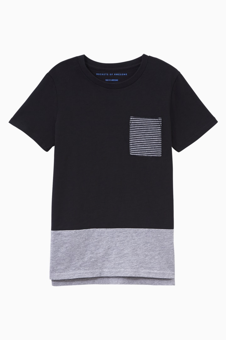 Colorblock Pocket Tee front