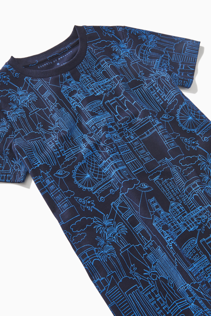 City Doodle Tee detail