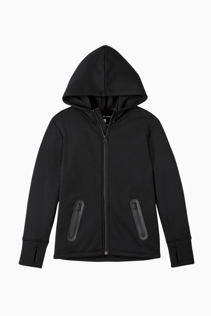 Cozy Awesome Active Zip Hoodie front
