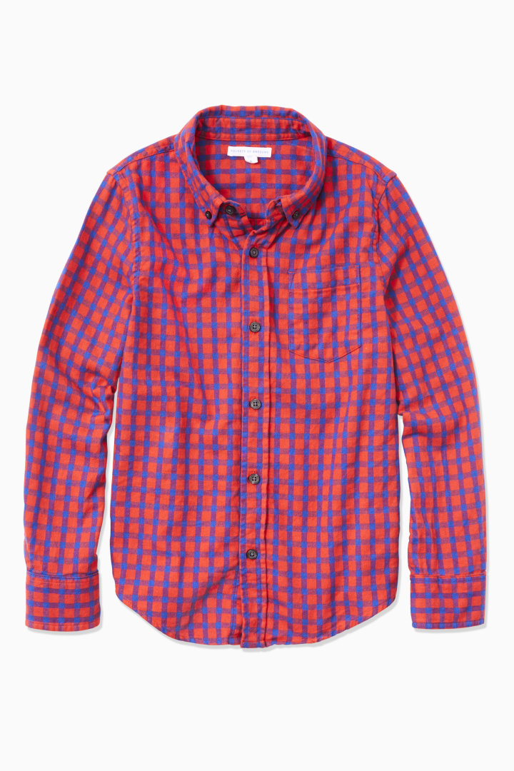 Checkered Flannel Button Down front