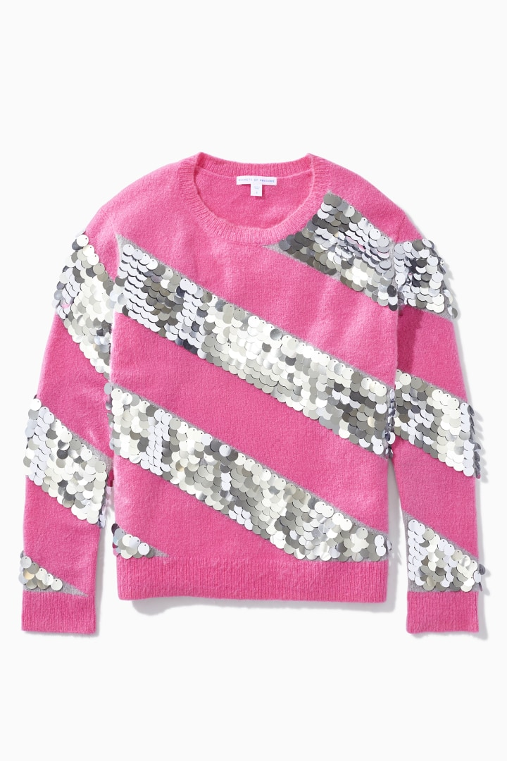 Party Time Paillette Sweater front