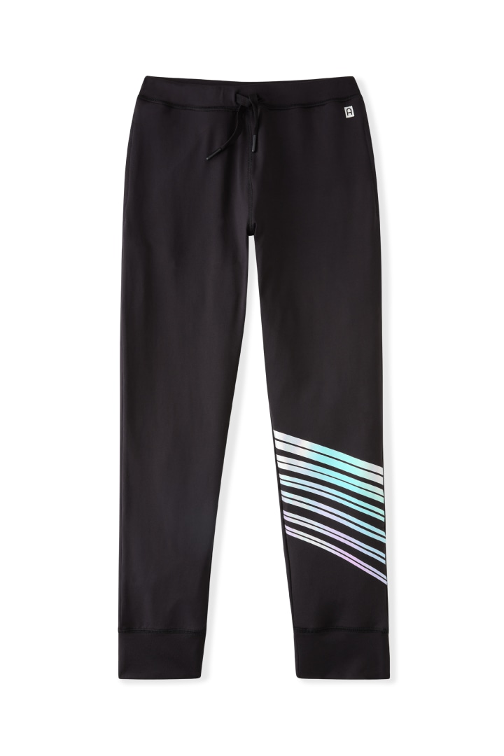 Iridescent Foil Active Jogger front