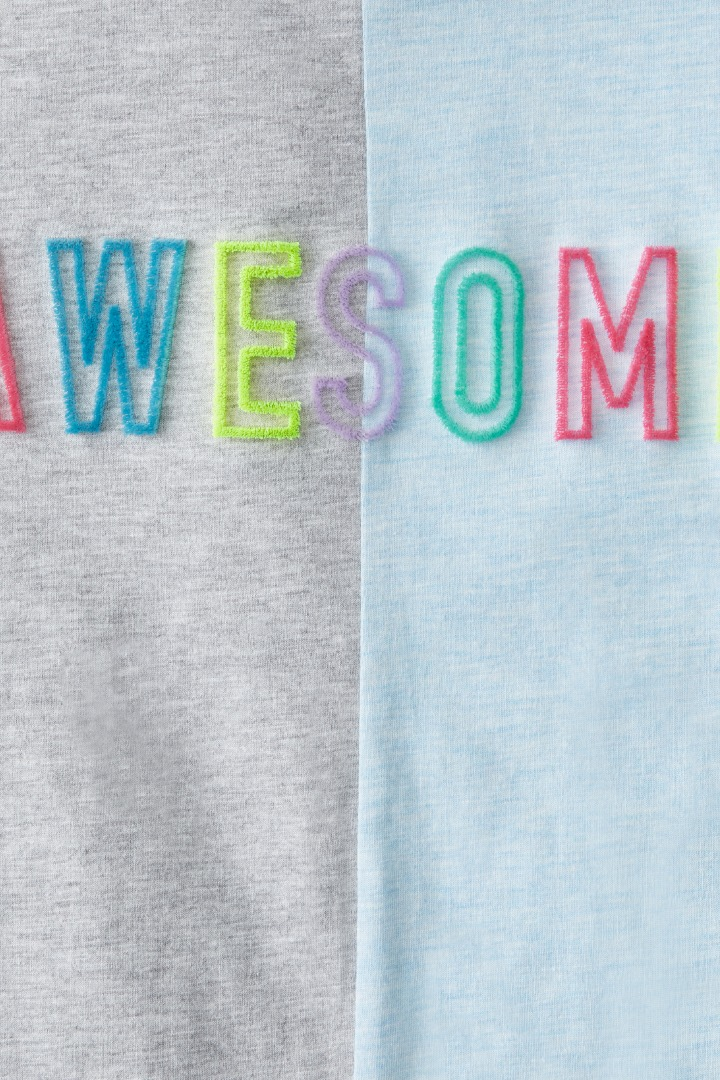 Two-Tone Awesome Tee detail