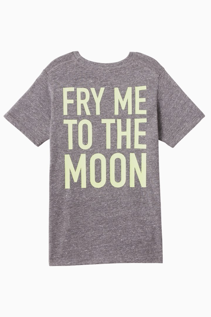 Fry Me To The Moon Tee back
