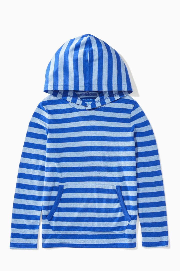 Striped Hoodie Tee front