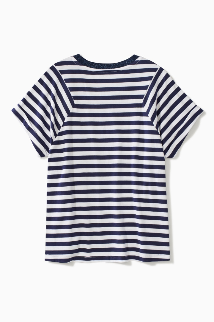 Stripe Block Tee back