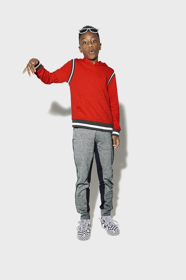 Two Tone Jogger on model