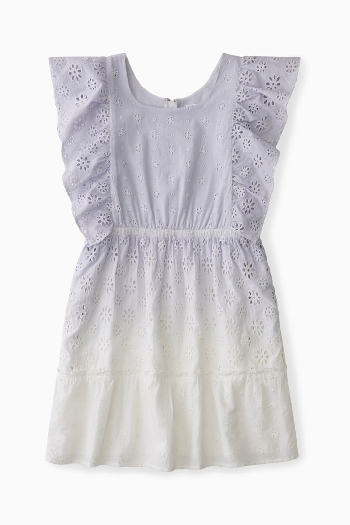 Ombre Eyelet Dress front