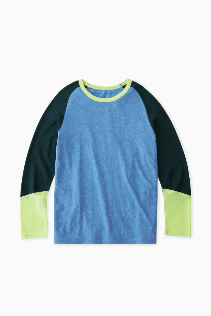 Colorblock Baseball Tee front