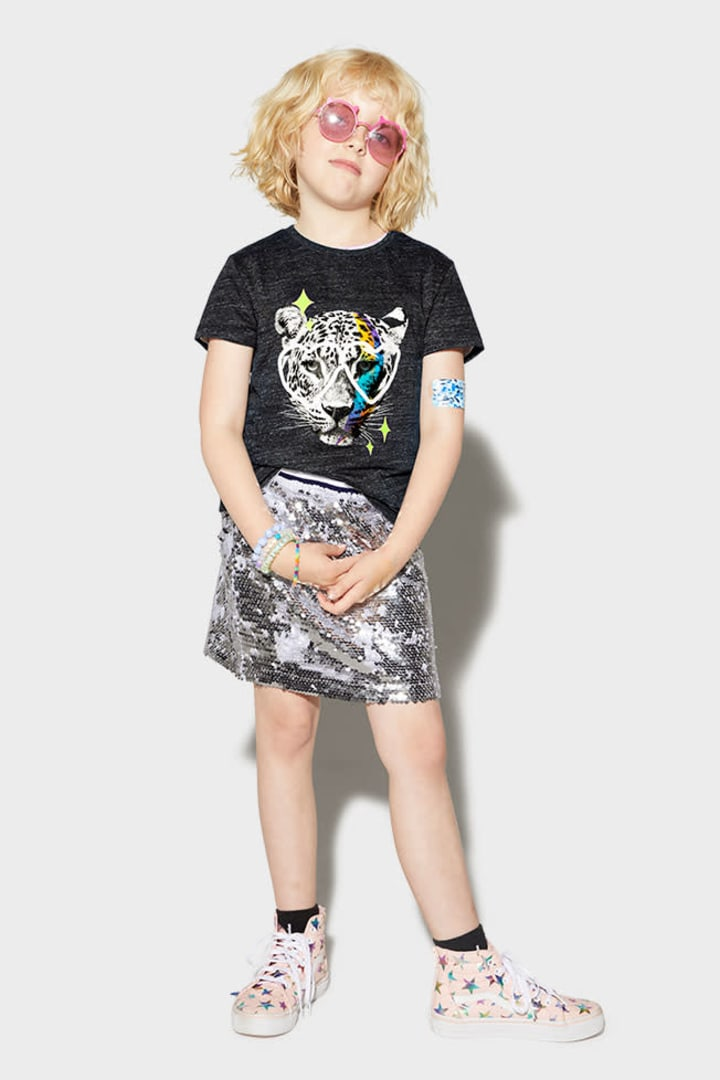 Leopard Love Glasses Tee on model