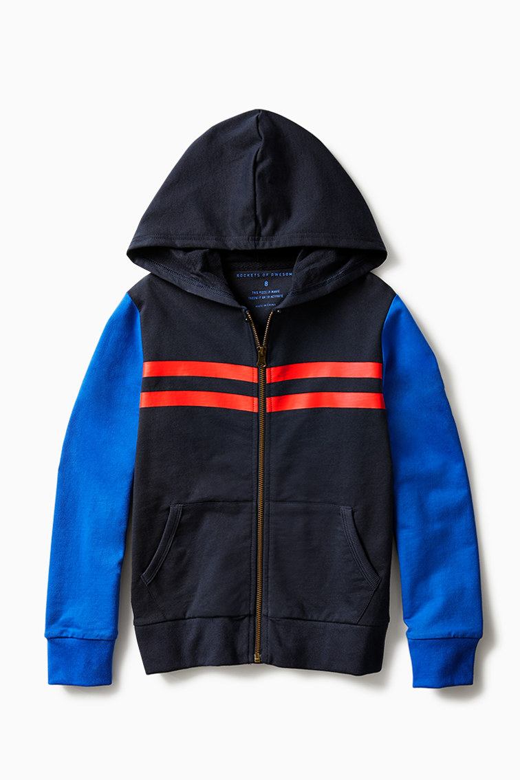 Varsity Stripe Full-Zip Sweatshirt front
