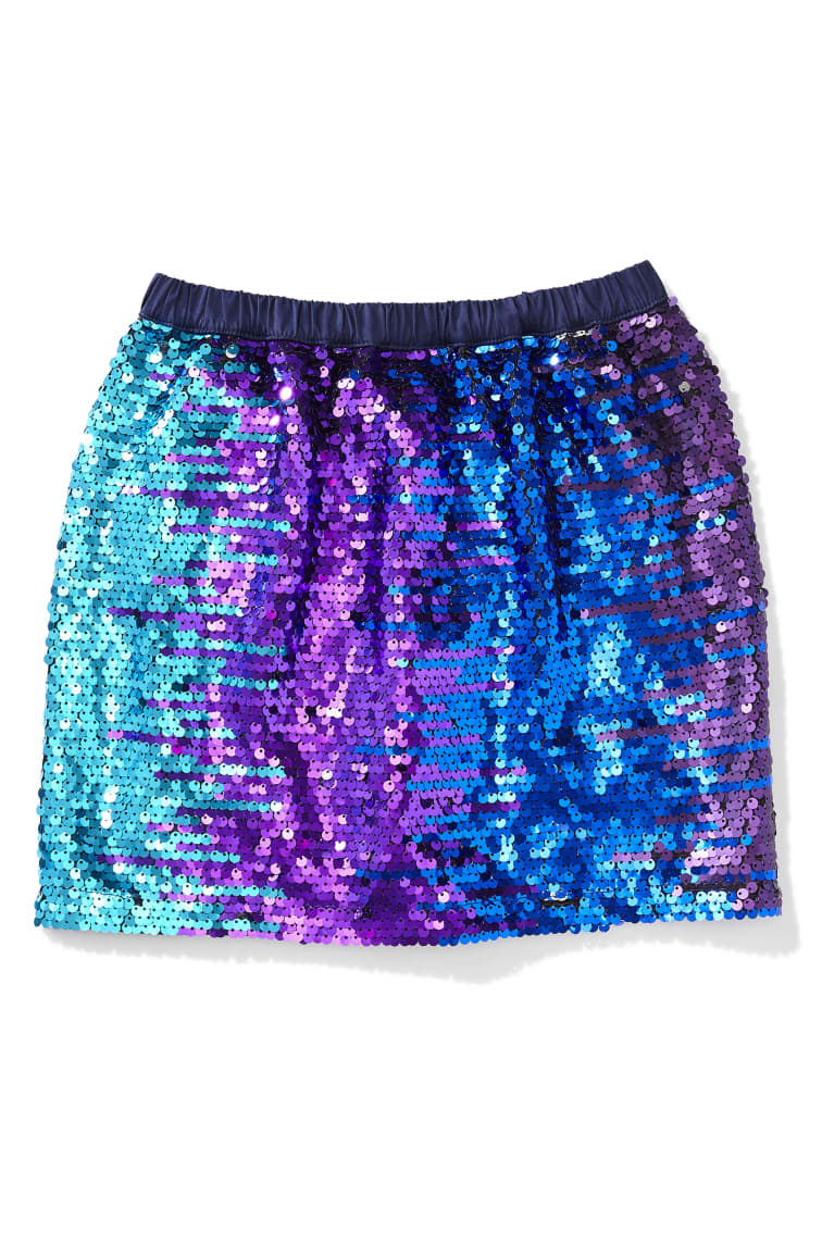 Under The Sea Flip Sequin Skirt front