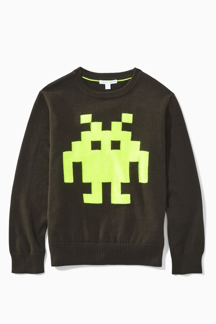 Neon Alien Sweater front