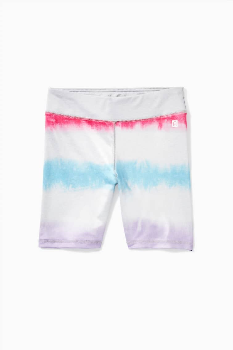 Multi Tie-Dye Active Biker Short front