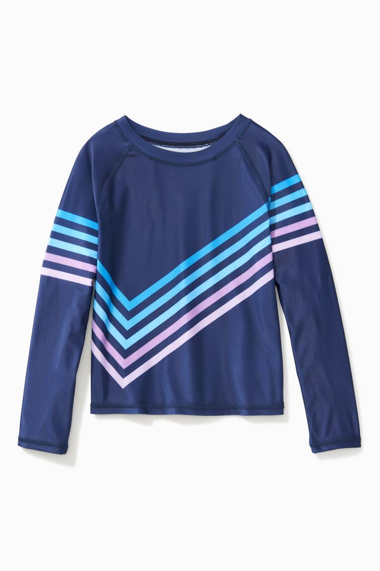 Rainbow Stripe Rash Guard front