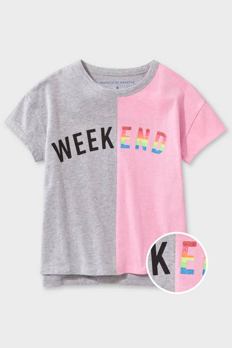 Color Blocked Weekend Tee front