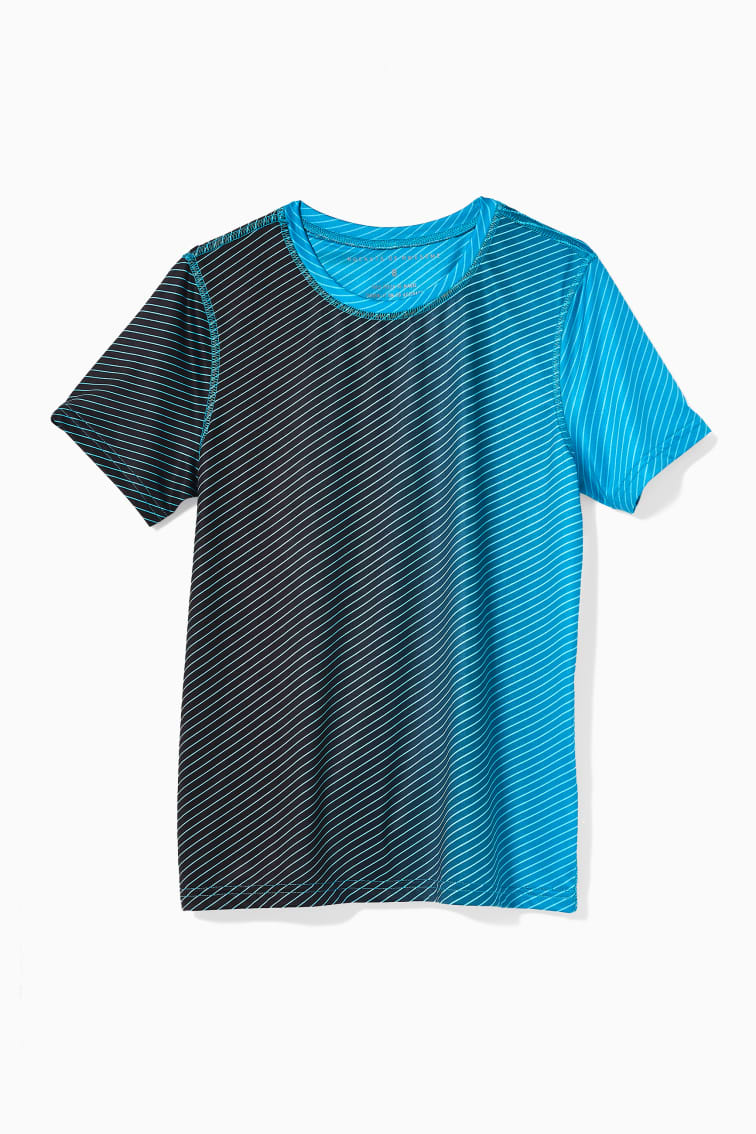 Ombre Stripe Active Tee front
