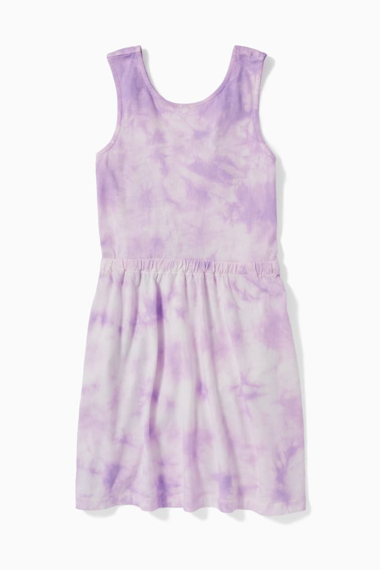 Tie Dye X-Back Dress front