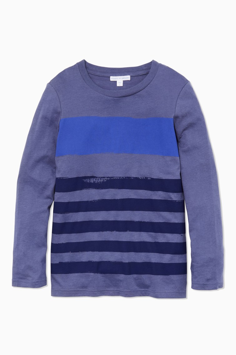 Hand-Painted Stripe Tee front