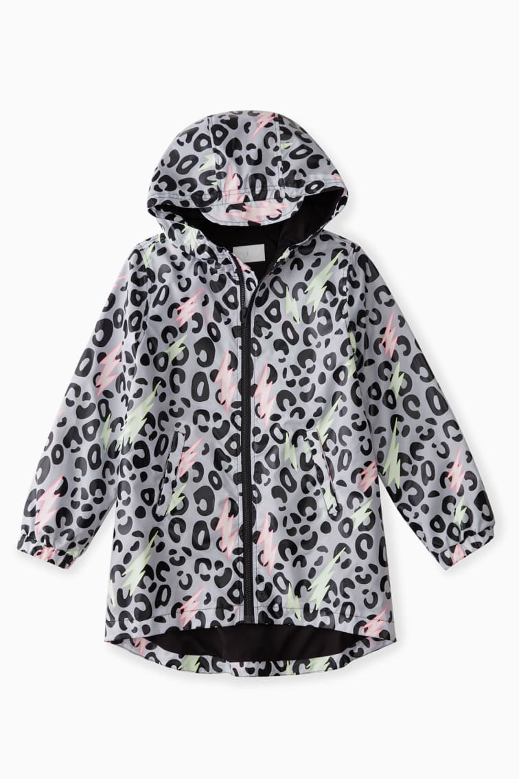 Color-Changing Raincoat In Leopard front