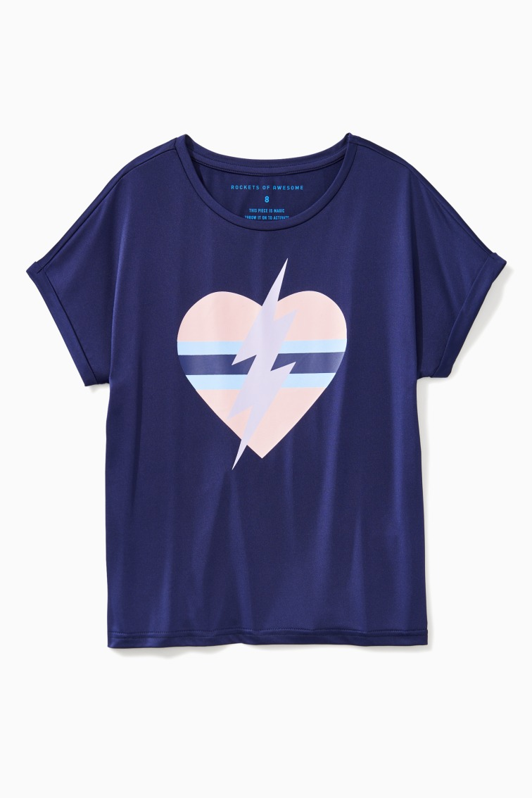 Heart And Bolt Tee  front