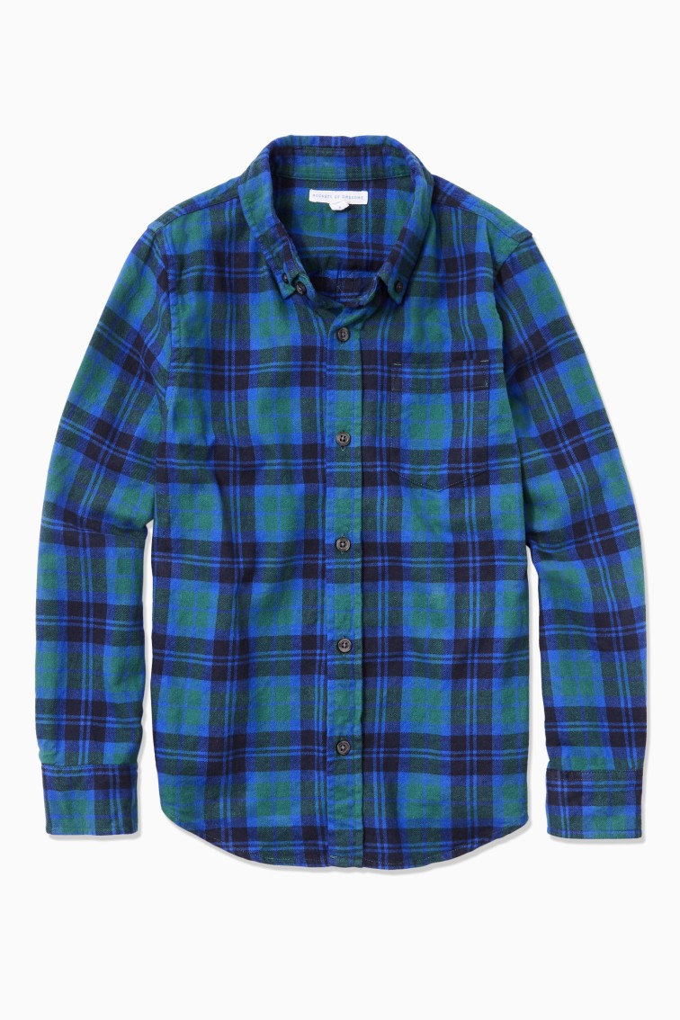 Plaid Flannel Button Down front