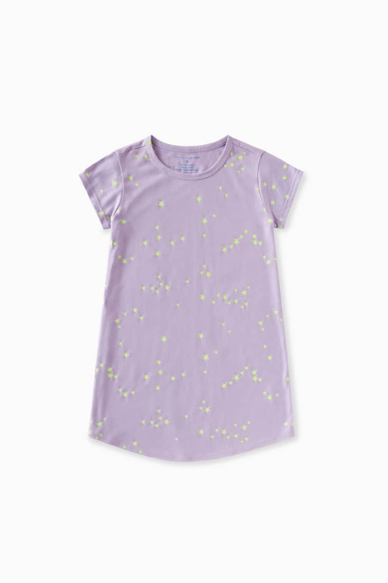 Glow In The Dark Astronomy Sleep Dress front